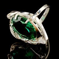 Серебряное кольцо 925 пробы с золотом арт. 523к