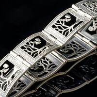 Серебряный браслет с фианитами арт. 497б