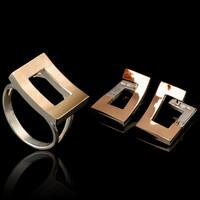 Комплект из серебра 925 пробы с золотыми вставками арт. 504г
