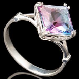 Серебряное кольцо 925 пробы с фианитами арт. 433к