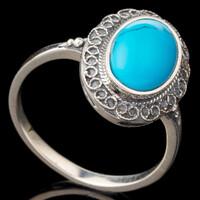Серебряное кольцо с кабошоном арт. 498к