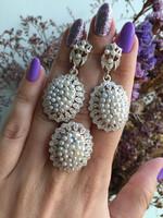 Серебряные серьги с жемчугом  арт. 530с