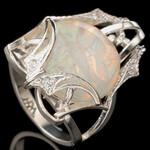 Серебряное кольцо с кабошоном арт. 538к