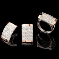 Серебряные серьги 925 пробы с золотом арт. 556с