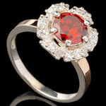 Серебряное кольцо 925 пробы с золотом арт. 570к