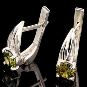 Серебряные серьги 925 пробы с фианитами арт. 560с