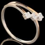 Серебряное кольцо 925 пробы с золотом арт. 532к