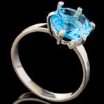 Серебряное кольцо 925 пробы с фианитами арт. 585к