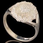 Серебряное кольцо 925 пробы с фианитами арт. 598к