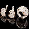 Серебряные серьги 925 пробы с золотом арт. 605с