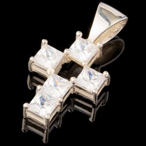 Серебряный Крест 925 пробы арт. 615кр