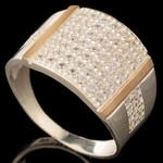 Серебряное кольцо 925 пробы с золотом арт. 619к