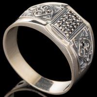 Перстень мужской из серебра 925 пробы арт. 633к