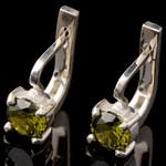 Серебряные серьги 925 пробы с фианитами арт. 533с