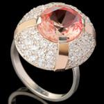 Серебряное кольцо 925 пробы с золотом арт. 552к