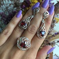 Серебряное кольцо 925 пробы с золотом арт. 562к