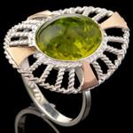 Серебряное кольцо 925 пробы с золотом арт. 564к
