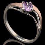 Серебряное кольцо 925 пробы с золотом арт. 575к