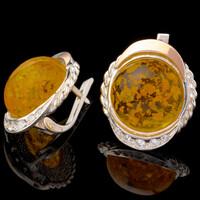 Серебряные серьги 925 пробы с золотом арт. 577с