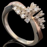 Серебряное кольцо 925 пробы с золотом арт. 612к