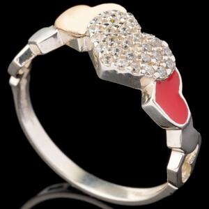 Серебряное кольцо 925 пробы с эмалью арт. 613к