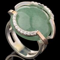 Серебряное кольцо 925 пробы с золотом арт. 616к