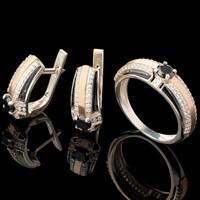 Серебряное кольцо 925 пробы с эмалью арт. 618к