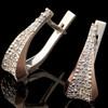 Серебряные серьги 925 пробы с золотыми вставками арт. 625с