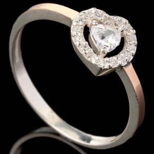 Серебряное кольцо 925 пробы с золотом арт. 626к