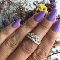 Серебряное кольцо Корона с фианитами арт. 631к