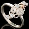 Серебряное кольцо 925 пробы с золотом арт. 642к
