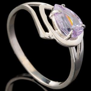 Серебряное кольцо 925 пробы с фианитами арт. 652к