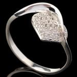 Серебряное кольцо 925 пробы с фианитами арт. 653к