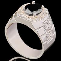 Перстень мужской из серебра 925 пробы арт. 687к