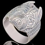 Перстень мужской из серебра 925 пробы арт. 673к