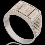 Перстень мужской из серебра 925 пробы арт. 692к