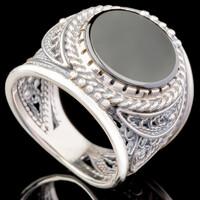 Перстень мужской из серебра 925 пробы арт. 669к