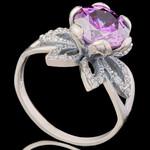 Серебряное кольцо 925 пробы с фианитами арт. 670к