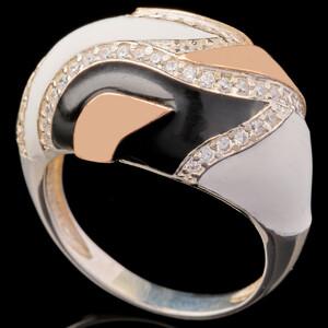Серебряное кольцо 925 пробы с эмалью арт. 595к