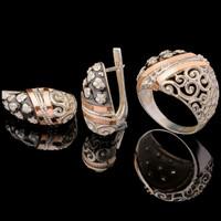 Серебряные серьги 925 пробы с эмалью арт. 641с