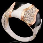Серебряное кольцо 925 пробы с эмалью арт. 611к