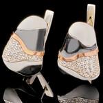 Серебряные серьги 925 пробы с эмалью арт. 611с