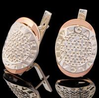 Серебряные серьги 925 пробы с золотом арт. 554с