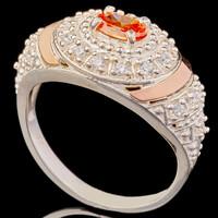 Серебряное кольцо 925 пробы с золотом арт. 555к