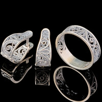 Серебряные серьги 925 пробы  арт. 667с
