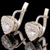 Серебряные серьги 925 пробы с фианитами арт. 389с