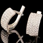 Серебряные серьги 925 пробы с фианитами арт. 689с