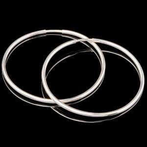 Серебряные серьги конго 35 мм.  арт. 680с