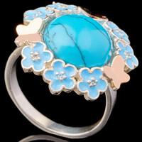 Серебряное кольцо 925 пробы с эмалью арт. 600к