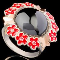 Серебряное кольцо 925 пробы с эмалью арт. 636к